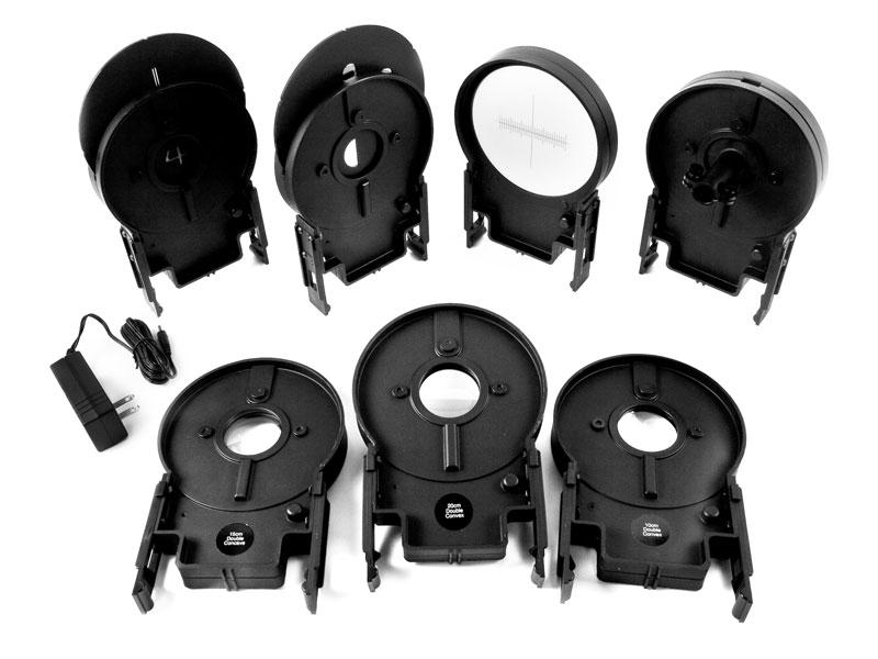 several pieces of optics kit