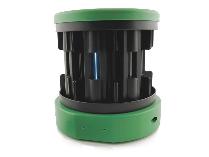 Green and black plastic spectrum tube power supply