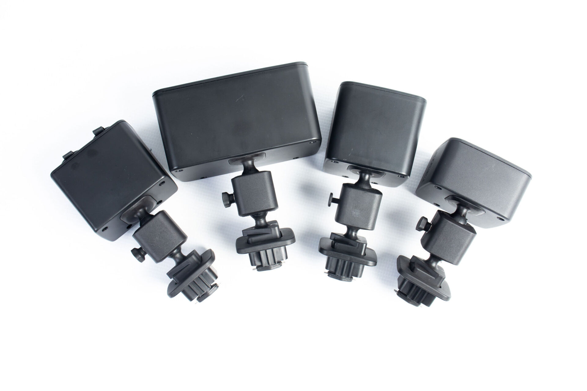 miscellaneous black plastic mounting devices