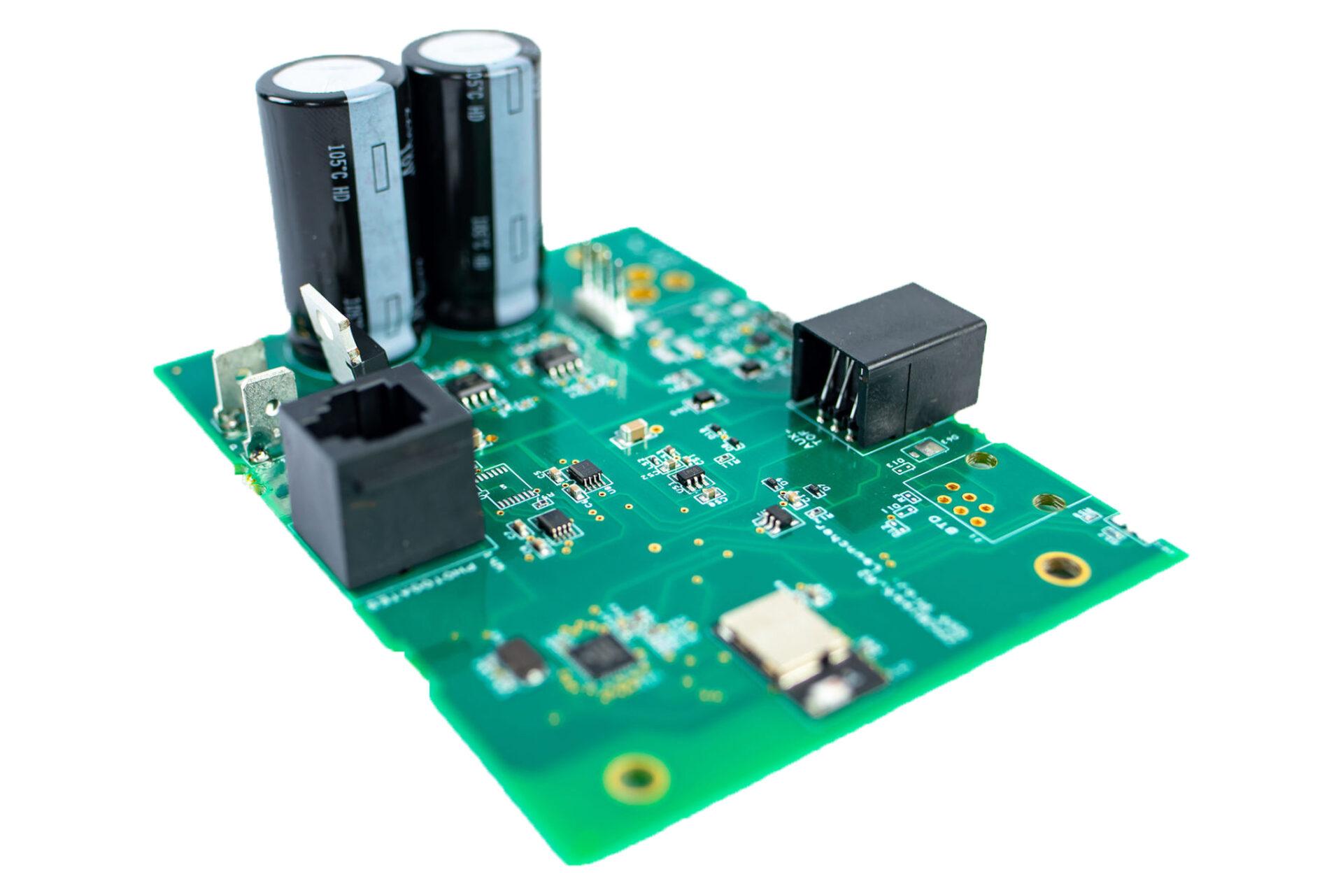 close up of PCB board