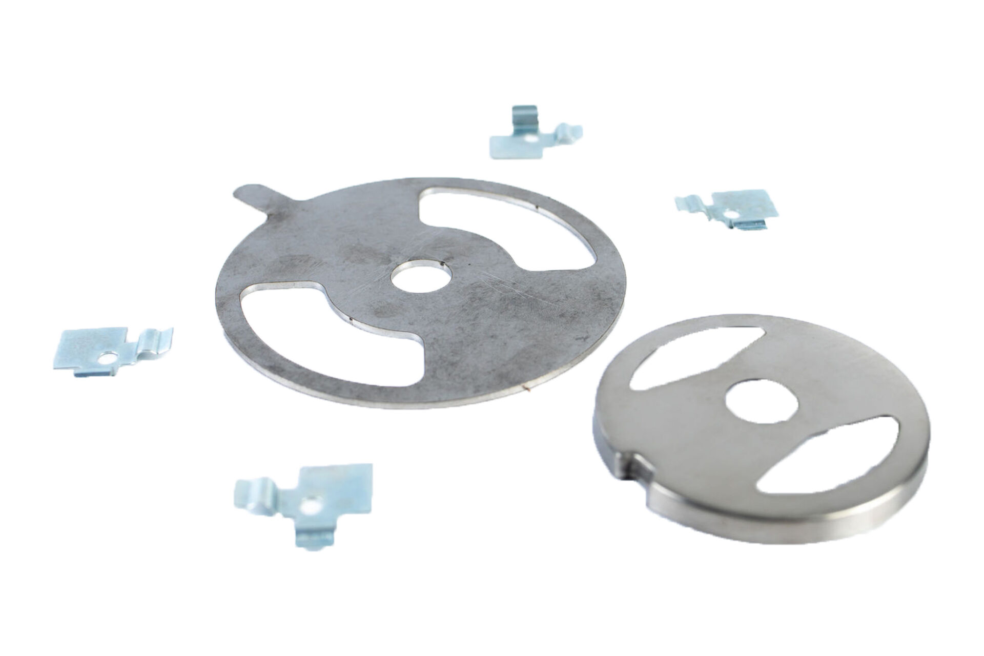miscellaneous silver metal parts