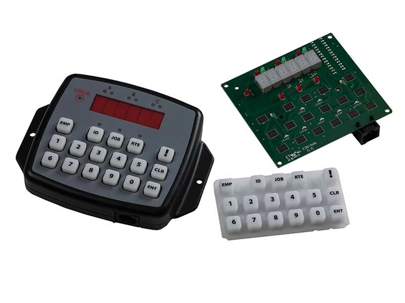 miscellaneous parts of fleet tracking operator panel